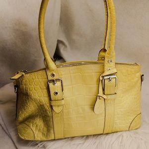 Authentic yellow Dooney & Bourke purse handbag
